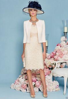 Lace Mother of Bride Formal Evening Dress Groom outfit/suit &Jacket Knee-Length | eBay