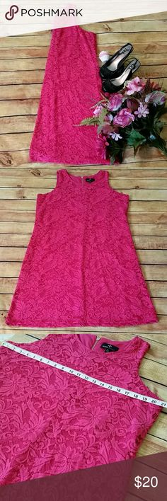 🆕🌹Ronni Nicole Pink Lace Dress Beautiful bright pink sleeveless lace dress. Fully lined, back zipper. Ronni Nicole, size XXL. Pre-loved. Slight piling on the lace on the front stomach area. Still in great condition! Ronni Nicole Dresses Midi