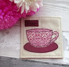 Sister Gift - Personalised Coaster - Fabric Coaster