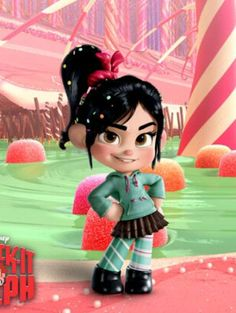 Wreck-it Ralph Sugar Rush Vanellope von Schweetz - Which might be an easy and fun costume for Halloween. appropriate enough to wear to work even!