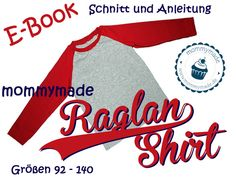Ebook Raglan-Shirt Longsleeve Pulli # Gr 92 - 140 # von mommymade-de