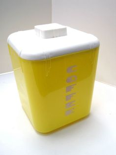 Yellow Coffee Canister Lustro Ware  50's Retro Kitchen by WaveSong on etsy, $22.00