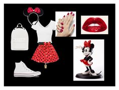 """""""Miney mouse Disney trip"""" by haley-espinosa on Polyvore featuring Disney, Converse and PB 0110"""