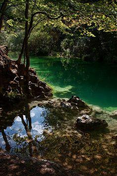 "visitheworld: ""Beautiful Urederra River in Navarra, Spain (by martin zalba). """