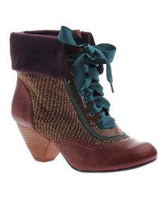 Look at this Saddle Afternoon Tea Leather Ankle Boot on #zulily today!