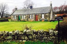 Traditional stone built Scottish farm cottage with private gardens