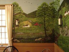 Photo: Dinning Room Wall Mural at Yankee Cricket B&B