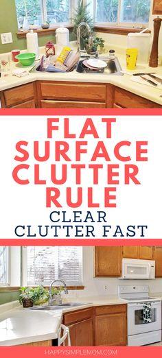 Declutter Bedroom, Declutter Home, Declutter Your Life, Organizing Your Home, Organising, Organizing Tips, Home Organization Hacks, Kitchen Organization, House Cleaning Tips