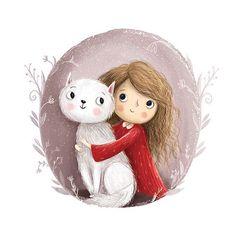 ✔ Cute Paintings For Girls Friends Art And Illustration, Character Illustration, Cute Paintings, Girl Paintings, Photo Chat, Painting Of Girl, Cartoon Kids, Cute Drawings, Cute Wallpapers