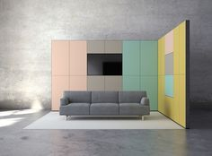 Technical wallpanel to integrate technology aesthetically into space, Luomoa EasyWall