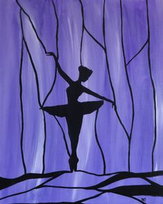 oh so purple silhouette ballerina