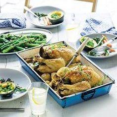 Roasted chicken with bay leaves & garlic | Geroosterde hoender met lourierblaar en knoffel #diabetic Healthy Recipes For Diabetics, Diabetic Recipes, Chicken Recipes, Gluten Free, Rose, Glutenfree, Pink, Sin Gluten, Roses