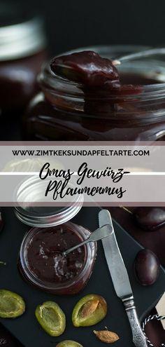 Pflaumenmus nach Omas Rezept Simply make plum jam according to my grandmother's recipe. Pork Chop Recipes, Jam Recipes, Canning Recipes, Healthy Eating Tips, Healthy Nutrition, Plum Jam, Jam And Jelly, Food Club, Vegetable Drinks