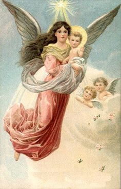 free angel postcard image | ... - angel, angels, vintage, xmas, christmas, holidays, free, clipart