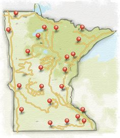 Minnesota Scenic Byways, including the Historic Bluff Country Scenic Byway that goes right through #LanesboroMN!