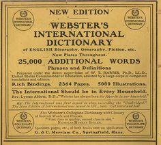 Vintage Websters 1902