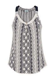 lace overlay swing tank - maurices.com