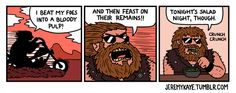 Tip #1: Eat hecka salad. | 12 Comics That Teach You How To Be PUNK AS HELL