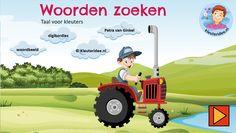 Digibordles taal, woordbeeld, kleuteridee, geletterdheid thema de koe, cow game Kindergarten IWB. Cow, Homeschool, Family Guy, Letters, Kids, Animals, Fictional Characters, Dutch, Young Children