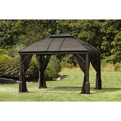 Grand Resort 10' x 12' Hardtop Gazebo with Integrated Speakers  ***LIMITED AVAILABILITY***