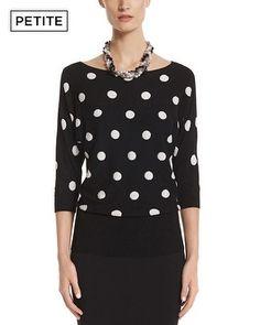 OMG. #obsessed   White House | Black Market Petite Polka Dot Sweater #whbm