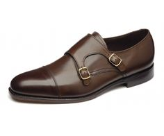 """Loake 1880 """"Cannon"""" Premium calf double buckle monk shoe, made in England.  Click through to see the Tan pair... stunning.  £199.00"""