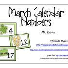 Calendar numbers for March with a St. Patrick's Day theme.  The numbers 1 to 31 contain an ABC pattern.   Can also be used for patterning or orderi...