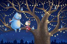 little girl  and polar bear by Irina Smirnova, via Behance