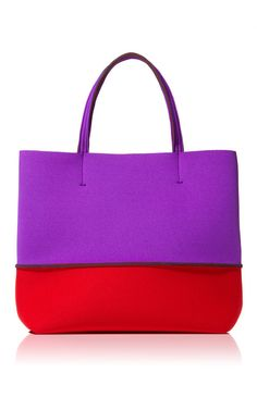 Shop Cherry/Red Beach Bag by Leghila Now Available on Moda Operandi Red Hat Society, Red Beach, Bags Online Shopping, Beach Accessories, Purple Fashion, All Things Purple, Red Hats, Red Purple, Purses And Bags