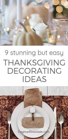 Thanksgiving decorating ideas I love from Pinterest - because they are so simple but beautiful! DagmarBleasdale.com #DIY #homedecor #diyhomedecorideas #thanksgivingtable #tablesettings #tablescapes #diyhomedecor #homedecorideas Thanksgiving Table Centerpieces, Thanksgiving Diy, Thanksgiving Table Settings, Outdoor Table Settings, Do It Yourself Home, Farmhouse Decor, Farmhouse Style, Farmhouse Design, Modern Farmhouse