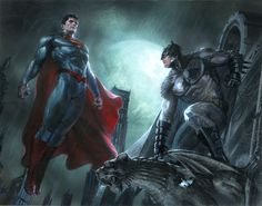Superman and Batman by Gabrielle Dell'Otto