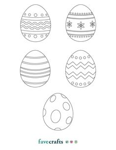 Download these Printable Easter Eggs today for hours of fun (for kids of all ages)! Cool Easter Eggs, Making Easter Eggs, Easter Egg Dye, Easter Crafts For Kids, Easter Egg Coloring Pages, Easter Egg Pattern, Easter Egg Designs, Christian Crafts