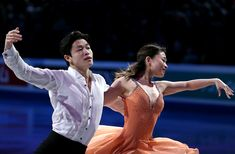 BOSTON - APRIL 3: Alex Shibutani and  Maia Shibutani from the United States perform during the Exhibition of Champions at the World Figure Skating Championships at TD Garden in Boston on April 3, 2016. (Photo by Matthew J. Lee/The Boston Globe via Getty Images) via @AOL_Lifestyle Read more: https://www.aol.com/article/news/2018/01/26/shibutani-siblings-come-of-age-in-time-for-olympics/23342812/?a_dgi=aolshare_pinterest#fullscreen