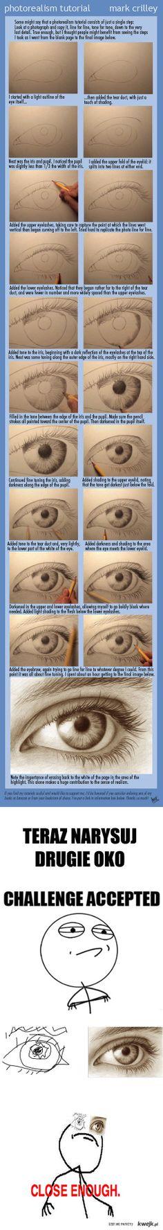 Drawing an eye...notice the iris