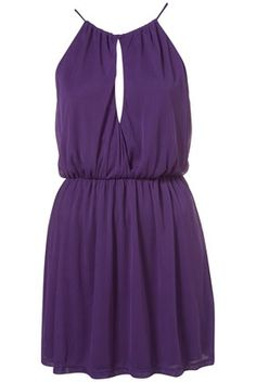 Purple Split Neck Halter Dress - New In This Week - New In - Topshop USA - StyleSays