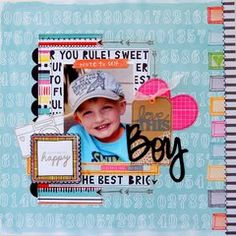 My Creative Scrapbook April Main kit designed by Brenda Cazes. Scrapbook Sketches, Scrapbook Page Layouts, Scrapbook Pages, Picture Layouts, Kids Scrapbook, Digital Scrapbooking, Scrapbooking Ideas, American Crafts, Making Ideas