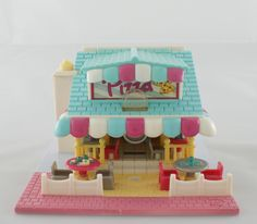 1993 Polly Pocket Pizzeria - complete door cocosvintagetoys op Etsy