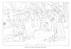 1000 images about color the classics on pinterest for Seurat coloring pages