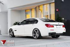 "2013 BMW 750i on Velos Designwerks 22"" Solo LV Wheels"