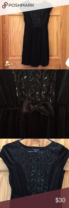 Black party dress Black velvet girls party dress. Only worn once. George Dresses Formal