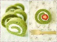 Delicious & beautiful desserts matcha roll