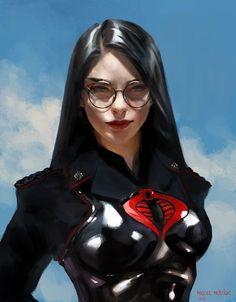 ArtStation - The Baroness, Miguel Mercado Marvel Dc, Marvel Comics, War Comics, Anime Comics, Fantasy Characters, Female Characters, Comic Books Art, Comic Art, Baroness Gi Joe