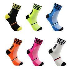 Pro Men Women XC Cycling Riding Ankle Socks Dot Striped Breathable Sports Socks