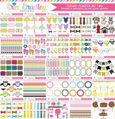 Clipart Classics - Clipart Bundle Set Two - 100 Sets – Erin Bradley/Ink Obsession Designs