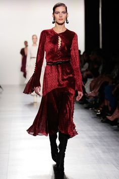 Trending Red Hot: The Best Red Looks from the Fall 2017 Season - Prabal Gurung from InStyle.com