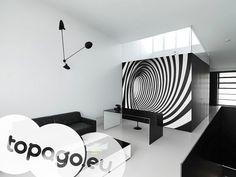 Fototapety czarno białe - abstrakcyjna spirala