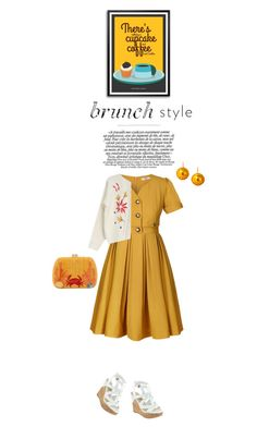 """Brunch Style"" by alynncameron ❤ liked on Polyvore featuring Orla Kiely, Goroke, GUESS, Chen Fuchs Jewelry and Serpui"