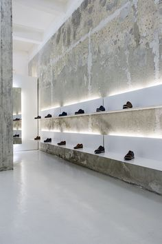 dezeen — More from Bulgaria: White shelves hang from...