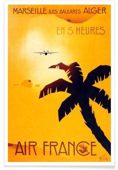Marseille als Premium Poster von Vintage Art Archive   JUNIQE
