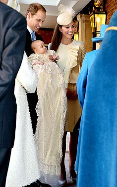 "Prince George celebrated 3 months of life on Oct. 23 -- resurfacing with parents Prince William and Kate Middleton for his royal christening and baptism at St. James Palace in London. ""Prince George has been as good as gold today!"" a source told Us Weekly."